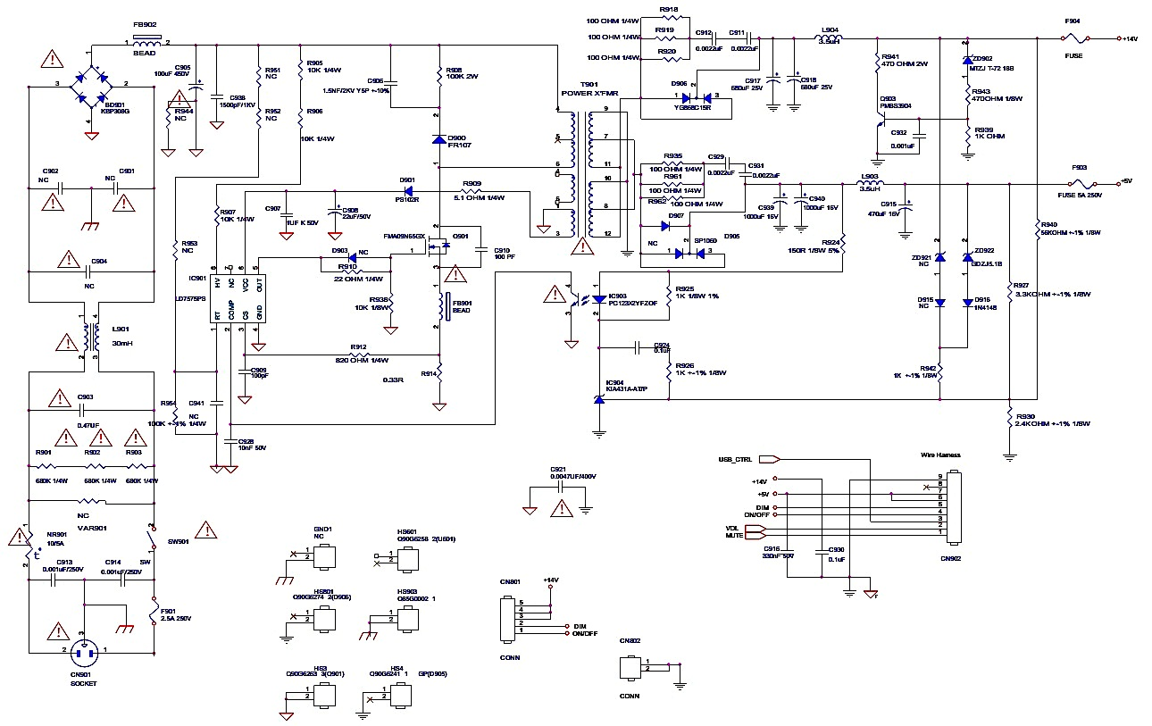 Smps Schematic Diagram Mitsubishi Pajero Stereo Wiring Hcl Hcm9lwat11 And Acer Cdb223pwl V223pwl Sm20120424v0
