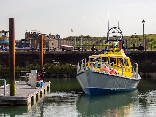 Photo of Polar Bound leaving Maryport Marina yesterday (Thursday)