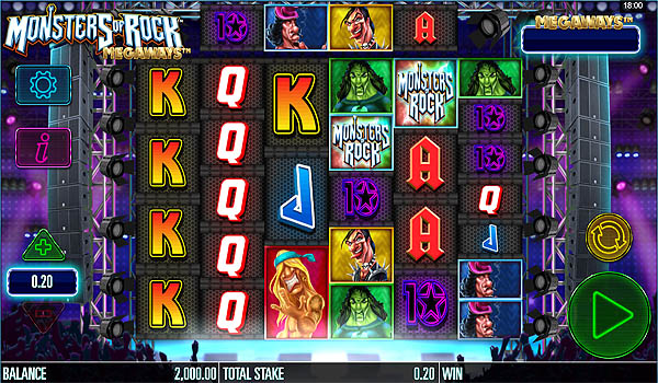 Main Gratis Slot Indonesia - Monsters of Rock Megaways Microgaming