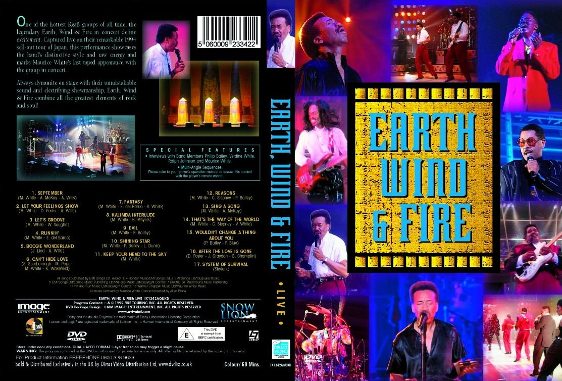 Earth Wind Fire Reasons Live