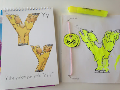 We're Highlighting Letter Y Today ...Yippee!
