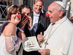pope in red nose