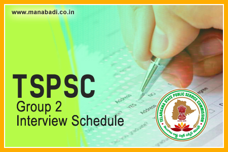 TSPSC Group 2 Interview Schedule