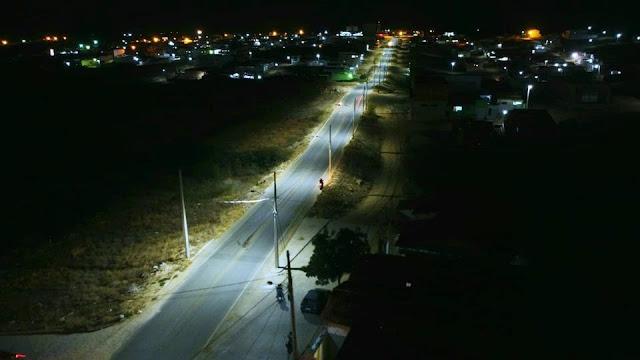 Em Picuí, alça que dá acesso ao IFPB já se encontra iluminada por placas de LED