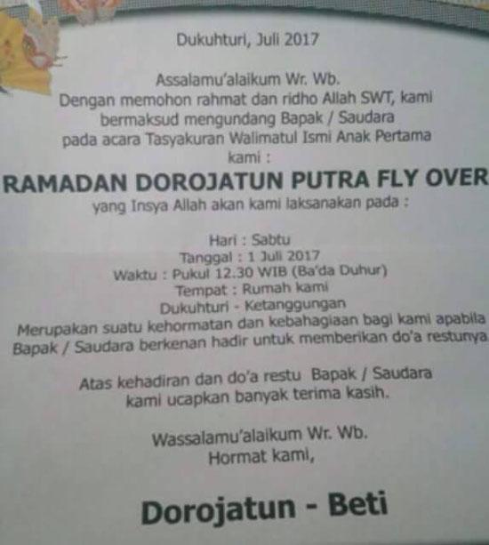 Nama Bayi 'Fly Over' Asal Brebes Jadi Viral di Facebook