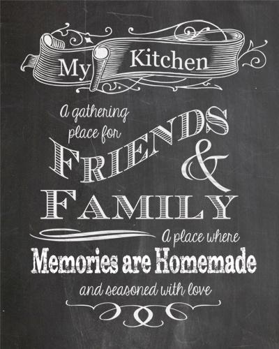 Percantik Dapur Kamu Dengan Dekorasi Printable Chalkboard