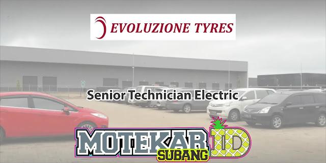 Lowongan Kerja Pabrik Ban Evoty Senior Technician Electric 2019
