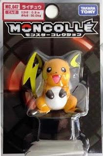 Raichu figure Takara Tomy Monster Collection MONCOLLE MC series