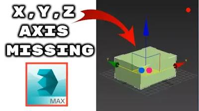 Fix 3ds max XYZ arrows axis missing problem