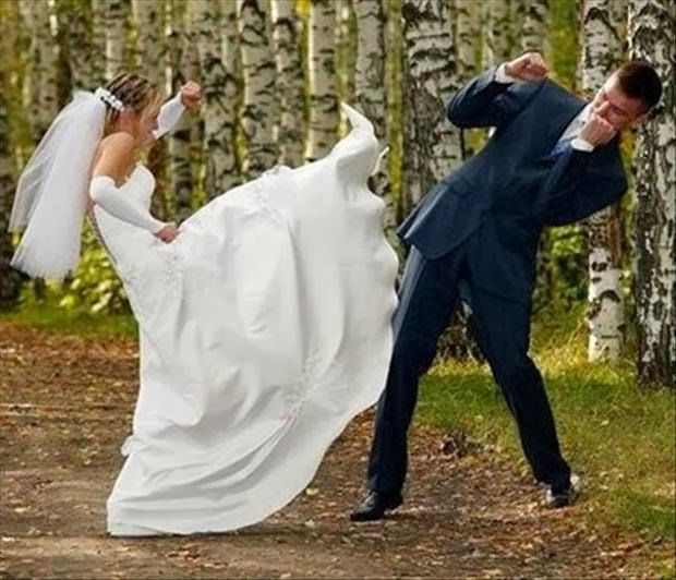 funny wedding fight picture