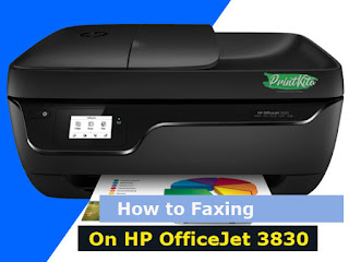 How to send and receive fax on HP Officejet 3830