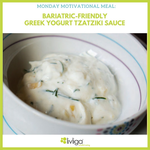 Monday Motivational Meal Greek Yogurt Tzatziki Sauce