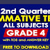 GRADE 4 (2nd Quarter Summative Tests) All Subjects with TOS