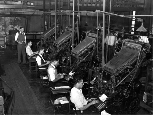 linotype-operators-Chicago-Defender-1941