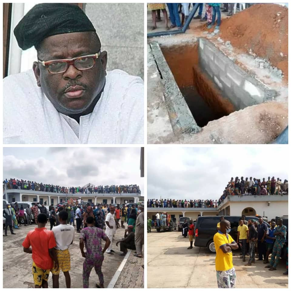 Senator Buruji Kashamu's Body Laid To Rest In Ogun (Photos/Video) #Arewapublisize