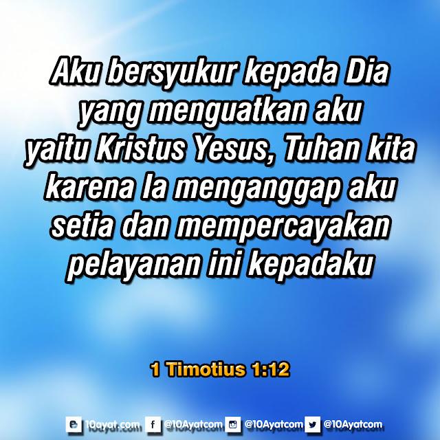 1 Timotius 1:12