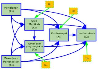 Model Struktural Faktor-Faktor yang Memengaruhi Jumlah Anak yang Dilahirkan