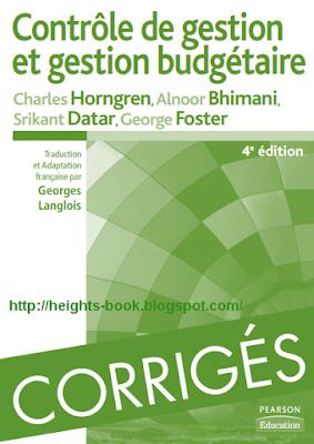 Télécharger Livre Gratuit Contrôle de Gestion et Gestion Budgétaire avec Corrigés des exercices pdf