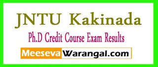 JNTU Kakinada Ph.D Credit Course 2017 Exam Results