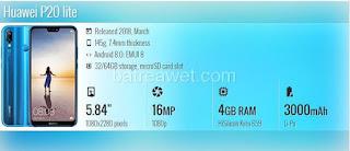 17. Huawei P20 lite