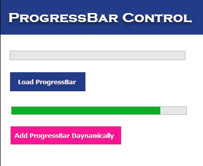 ProgressBar Control in C# and VB.NET