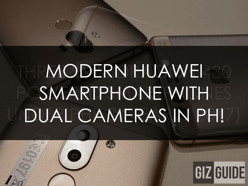 Modern Huawei Smartphones With Dual Main Cameras