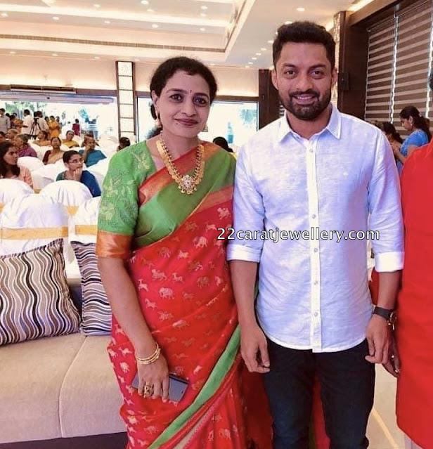 Kalyan Ram Sister in Kasu Necklace