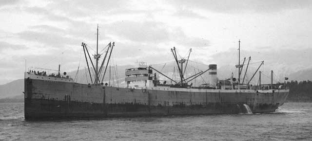 SS Sliveray, sunk on 4 February 1942 worldwartwo.filminspector.com