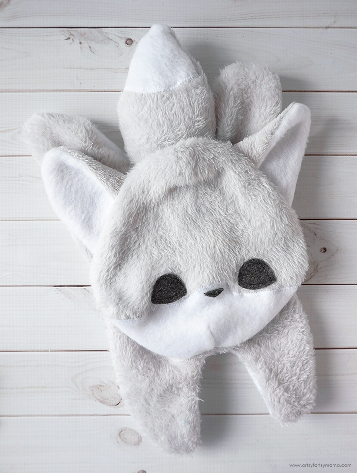 DIY Weighted Wolf Stuffed Animal