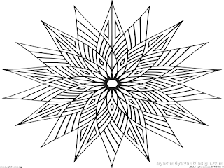 Lineare Mandala Monochrome Kreisförmiges Muster Zum