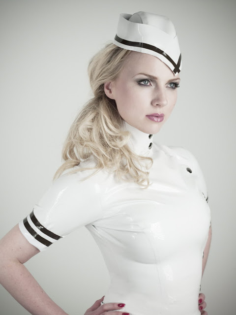 STEWARDESS COSTUME: ANCILLA TILIA LATEX