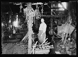 Negro blacksmith, Newport News, VA, 1936