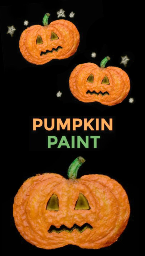 Make your own pumpkin paint that dries puffy & raised! This craft recipe for kids takes only 3 ingredients to make and is great for all ages. #pumpkinrecipes #pumpkinpainting #pumpkinpaintingforkids #pumpkinpaintrecipe #puffypaint #puffypaintrecipe #fallcrafts #growingajeweledrose #activitiesforkids