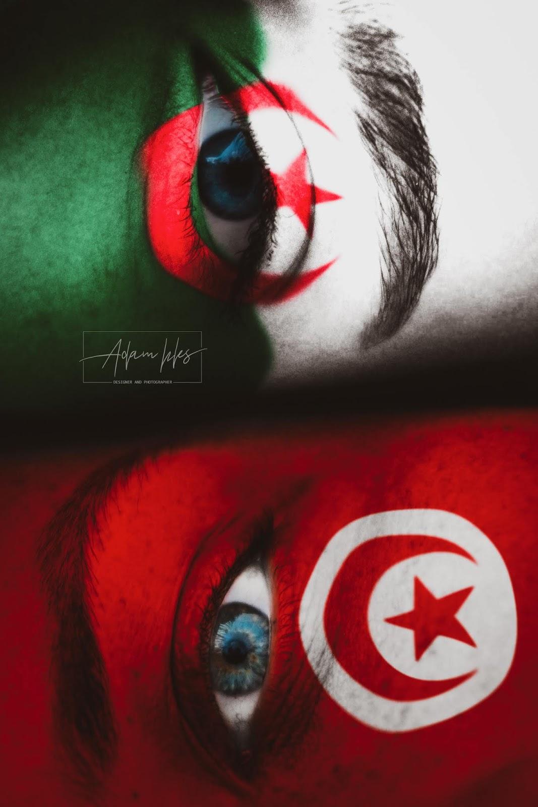 علم تونس وعلم الجزائر