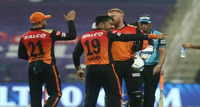 IPL: अबू धाबी में सनराइजर्स हैदराबाद ने दिल्ली की कैपिटल को 15 रनों से हराया