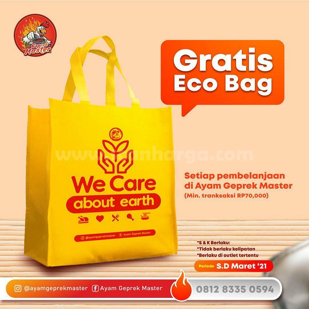 Ayam Geprek Master Promo GRATIS ECO BAG min. Belanja Rp 70.000