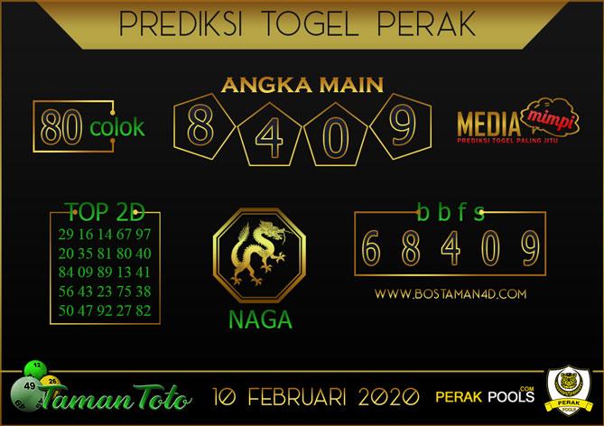Prediksi Togel PERAK TAMAN TOTO 10 FEBRUARY 2020