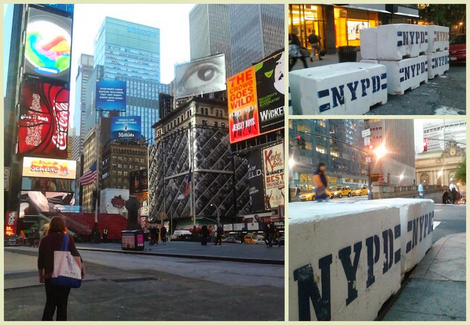 Bloques de hormigón seguridad NYPD