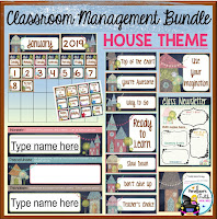 Classroom Management House Chalkboard Theme