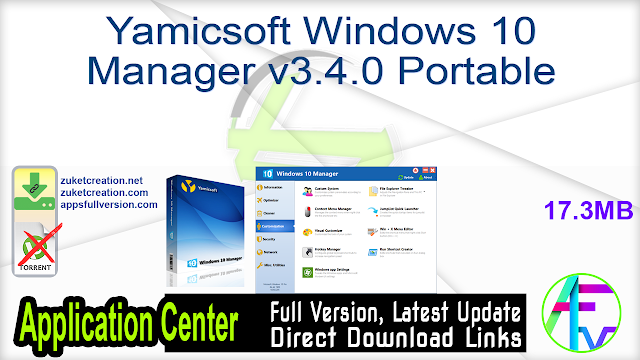 Yamicsoft Windows 10 Manager v3.4.0 Portable