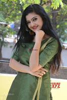 Akshitha cute beauty in Green Salwar at Satya Gang Movie Audio Success meet ~  Exclusive Galleries 022.jpg