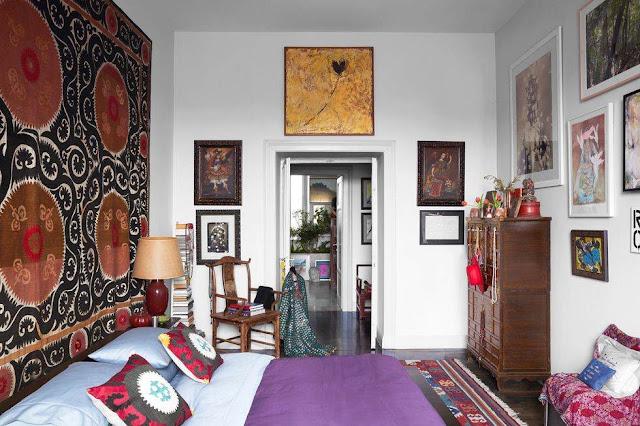 best bedroom design ideas tapestry as a headboard