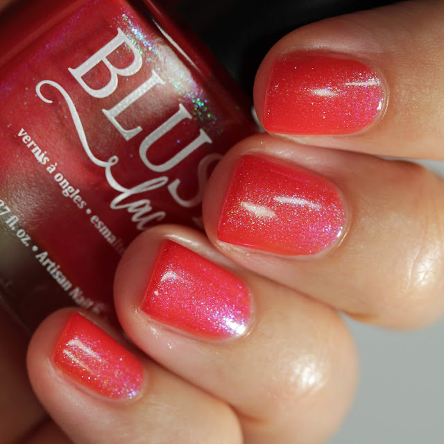 BLUSH Lacquers Stop In The Name Of Love swatch by Streets Ahead Style