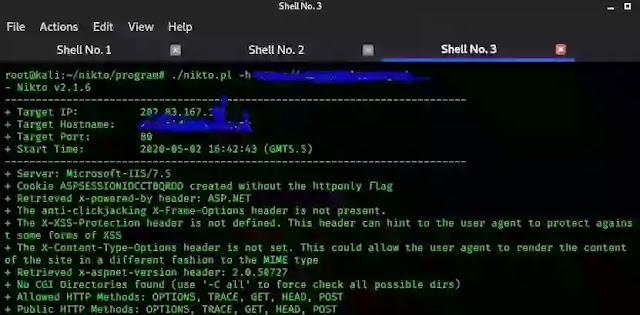 Nikto web  server scanner