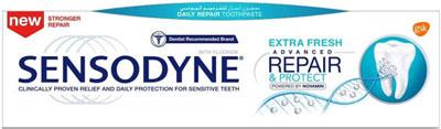 معجون الأسنان سنسوداين المطور ترميم وحماية انتعاش زائد