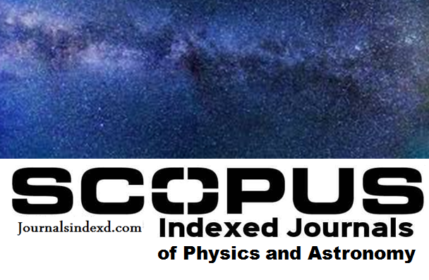 Scopus indexed Physics and Astronomy journals in india