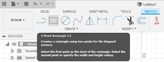 """clicking the """"2-Point Rectangle"""" button"""