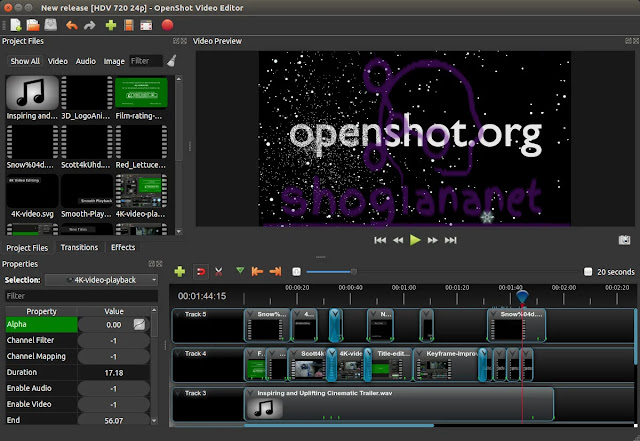 open shot أفضل برنامج مونتاج كمبيوتر