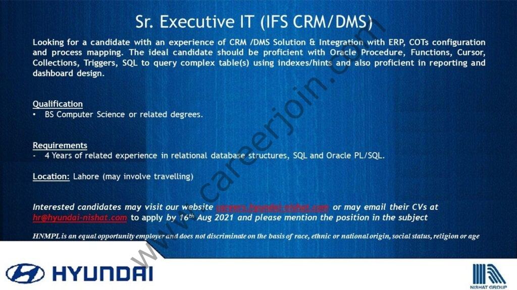 hr@hyundai-nishat.com - Hyundai Pakistan Jobs 2021 in Pakistan