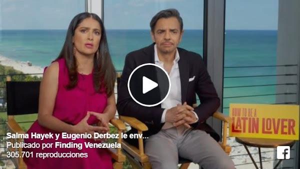 Salma Hayek envía un video contra la represión en Venezuela